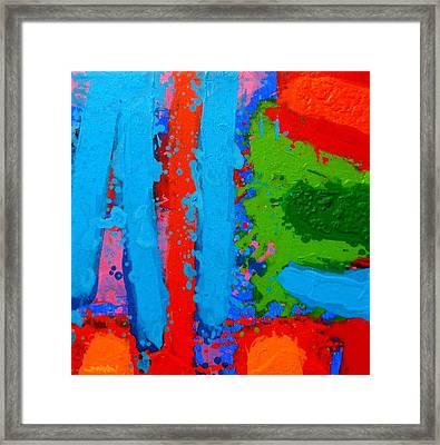 Luminous Blues Framed Print by John  Nolan
