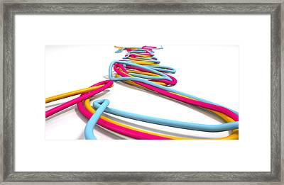 Luminous Cables Closeup Framed Print by Allan Swart
