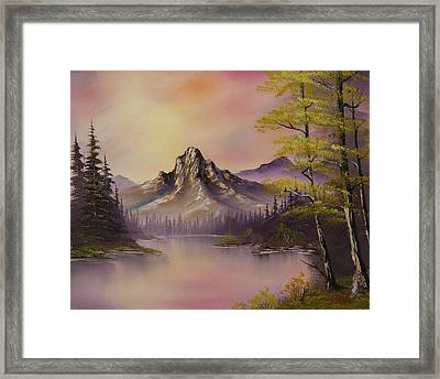 Luminous Lake Framed Print by C Steele