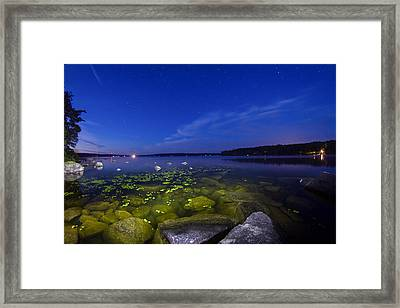 Luminous Lake Framed Print