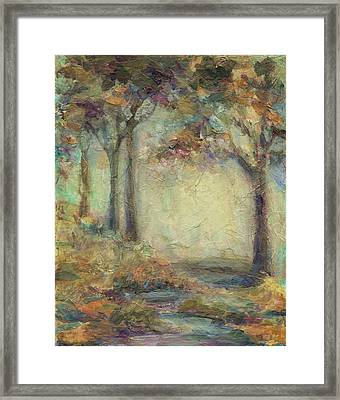 Framed Print featuring the painting Luminous Landscape by Mary Wolf