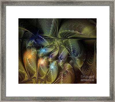 Luminous Star Framed Print by Karin Kuhlmann