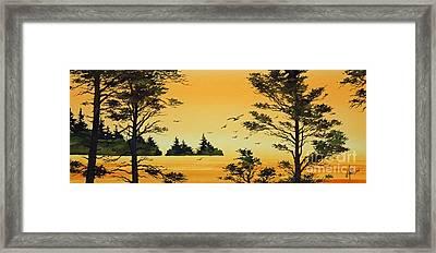 Luminous Sunset Framed Print by James Williamson