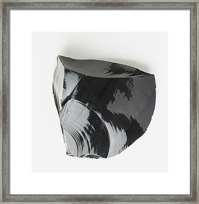 Lump Of Black Obsidian Framed Print