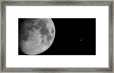 Framed Print featuring the photograph Luna And Jupiter by Jason Politte