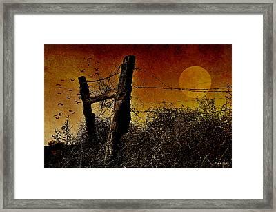 Luna De Sangre Framed Print by Karen Slagle