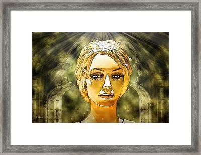 Luna In The Temple Of Doom Framed Print