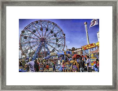 Luna Park 2013 - Coney Island - Brooklyn - New York Framed Print by Madeline Ellis