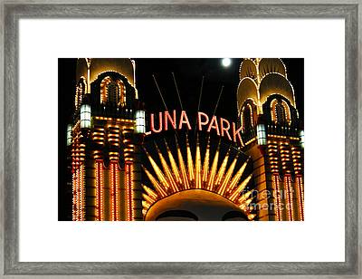 Luna Park In Sydney Framed Print by Cheryl Boutwell