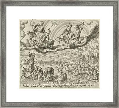 Luna, The Moon, And Her Children, Harmen Jansz Muller Framed Print by Harmen Jansz Muller And Hieronymus Cock