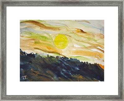 Luna Framed Print by Troy Thomas