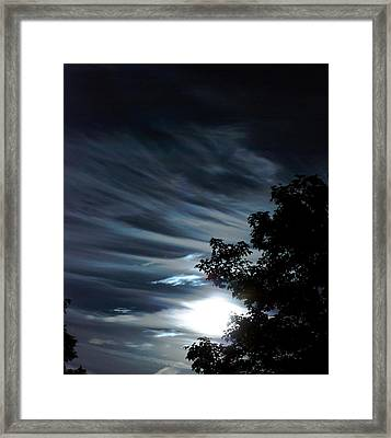 Lunar Art Framed Print by Optical Playground By MP Ray