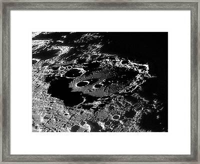 Lunar Crater Clavius At Sunrise Framed Print