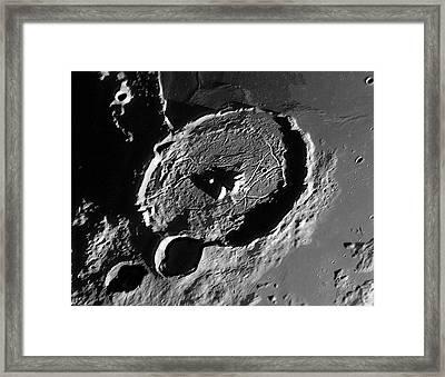 Lunar Crater Gassendi At Sunrise Framed Print