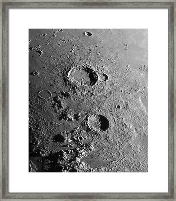 Lunar Craters Aristoteles And Eudoxus Framed Print