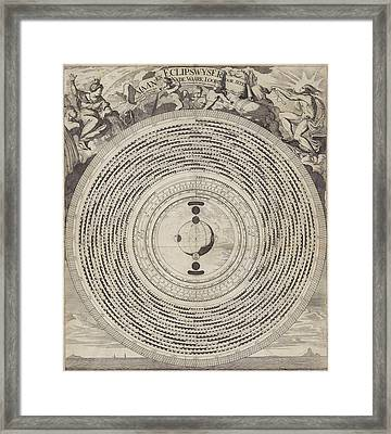 Lunar Eclipse And Wiser, Caspar Luyken, Joannes Loots Framed Print