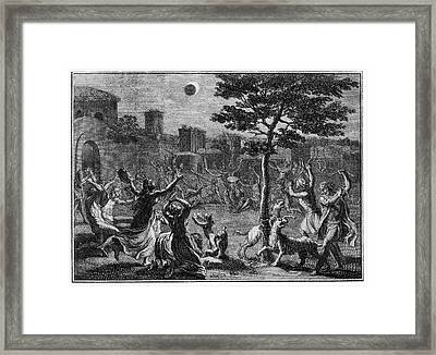 Lunar Eclipse Framed Print by Cci Archives
