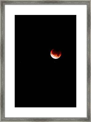 Framed Print featuring the photograph Lunar Eclipse One by Joel Loftus