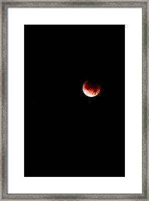 Lunar Eclipse One Framed Print by Joel Loftus