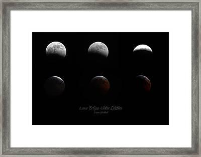 Lunar Eclipse Winter Solstice Framed Print