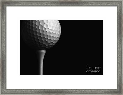 Lunar Golf Framed Print