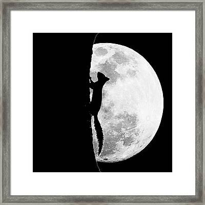 Lunar Grazing Framed Print by Mitford Fontaine