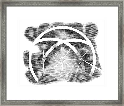 Lunar Halo And Moon Dogs Framed Print by Royal Astronomical Society