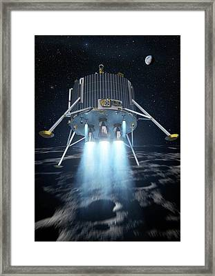 Lunar Lander Spacecraft Framed Print by European Space Agency