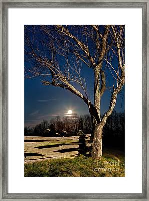 Lunar Landing - Blue Ridge Parkway Framed Print
