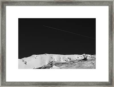 Lunar Landscape Framed Print by Simona Ghidini