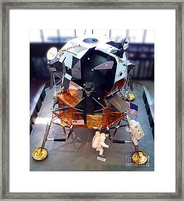 Lunar Module Framed Print by Kevin Fortier