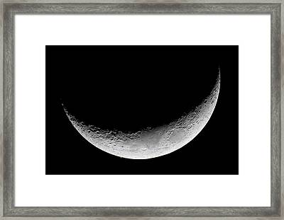 Lunar Occultation Of Mars Framed Print by Luis Argerich