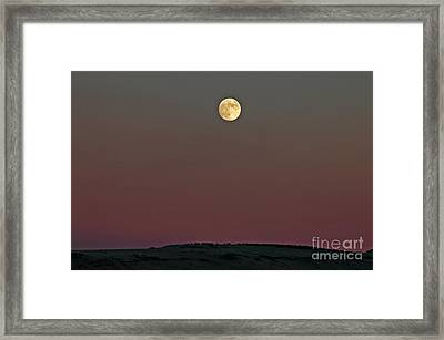 Lunar Over Indian Ridge Framed Print