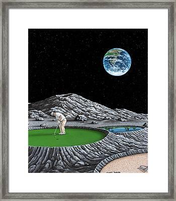 Lunar Putt Framed Print by Snake Jagger