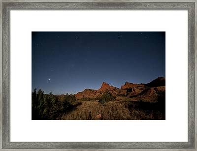 Lunascape Framed Print by Melany Sarafis