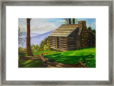 Lunch At An Old Cabin In The Blue Ridge Framed Print