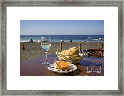Lunch At The Beach Framed Print