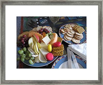 Lunch Framed Print by Barbara McDevitt