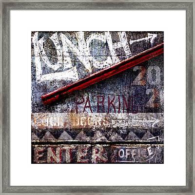 Lunch Framed Print by Carol Leigh