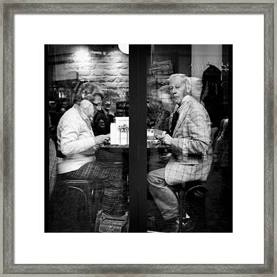 Lunch Framed Print by Dave Bowman