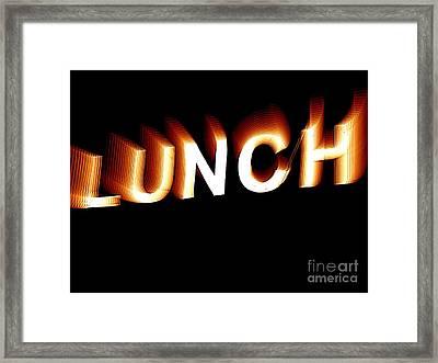 Lunch Framed Print by Ed Weidman