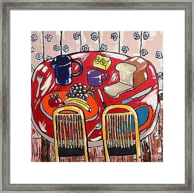 Lunch For Two  Framed Print