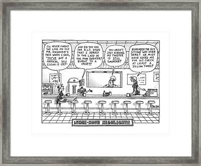 Lunch-hour Highlings Framed Print by Jack Ziegler