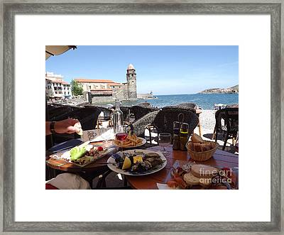 Mediterranean Lunch Framed Print