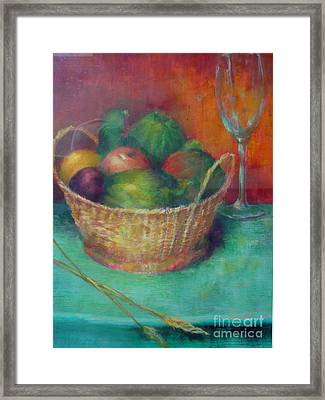 Lunch In Tuscany  Copyrighted Framed Print by Kathleen Hoekstra
