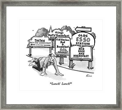 Lunch!  Lunch! Framed Print by J.P. Rini