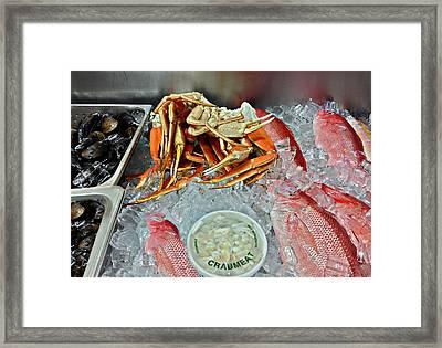 Lunch Menu Framed Print by Susan Leggett