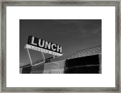 Lunch Framed Print by Steve Gravano