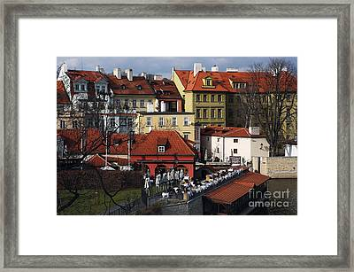Lunch Time In Prague Framed Print by John Rizzuto