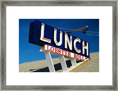Lunch Time Framed Print by James Kirkikis